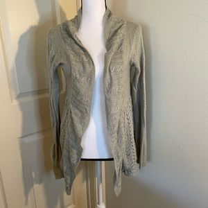 At Last, light grey cardigan
